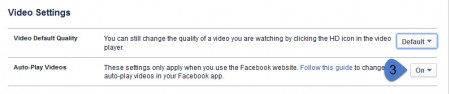 Facebook video AutoPlay Step 3